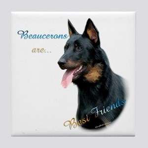 Beauceron Best Friend1 Tile Coaster