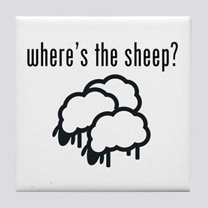 Where's The Sheep? Tile Coaster