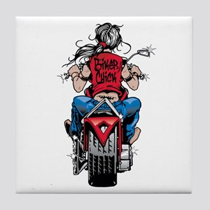 Biker Chick Tile Coaster