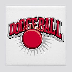 Dodge Ball Logo Tile Coaster