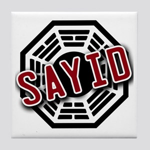 Sayid Dharma Logo from LOST Tile Coaster