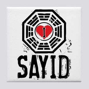 I Heart Sayid - LOST Tile Coaster