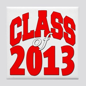 Class of 2013 (red2) Tile Coaster