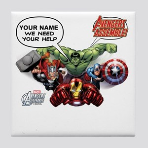 a2a41f038 Avengers Assemble Personalized Design Tile Coaster