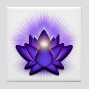 Chakra Lotus - Third Eye Purple Tile Coaster
