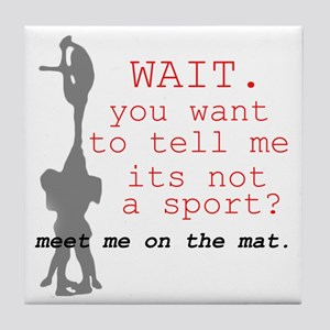 Meet Me on the Mat Tile Coaster