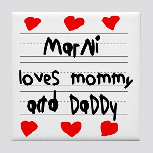 Marni Loves Mommy and Daddy Tile Coaster