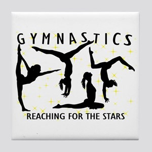 Gymnastics Reaching For The Stars Tile Coaster