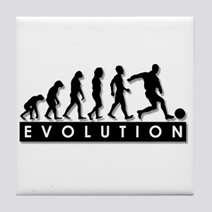 Evolution of a Soccer Player Tile Coaster
