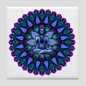The Evening Light Buddha Tile Coaster