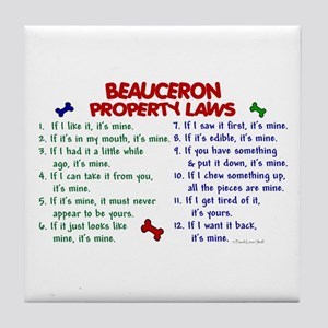 Beauceron Property Laws 2 Tile Coaster