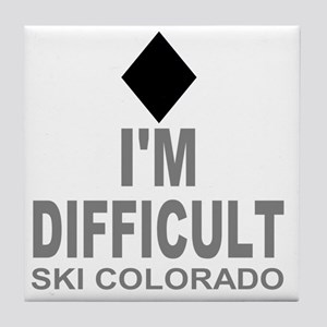 Difficult_Ski_Colorado Tile Coaster