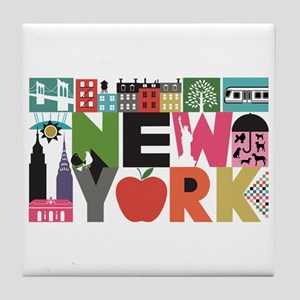 Unique New York - Block by Block Tile Coaster