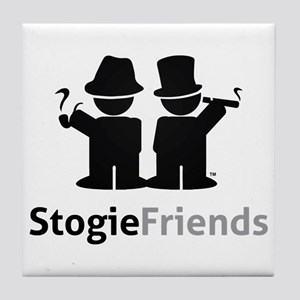 Stogie Friends Swag - Black Design Tile Coaster