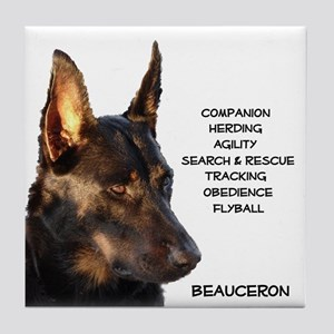 Versatile Beauceron Tile Coaster