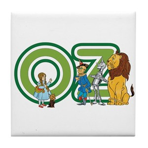 Vintage Wizard of Oz Tile Coaster
