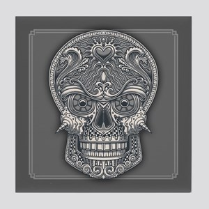 Deadly Love Skull Tile Coaster