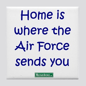 Home is where the Air Force S Tile Coaster