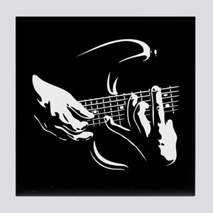 Guitar Hands Tile Coaster