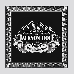 Jackson Hole Mountain Emblem Tile Coaster