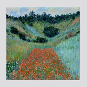 Claude Monet - Poppy Field near Giver Tile Coaster