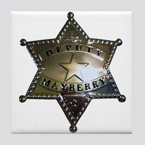 Mayberry Deputy Badge Tile Coaster
