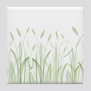 Delicate Grasses Tile Coaster