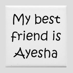 Ayesha Name Coasters - CafePress