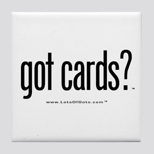 got cards? Tile Coaster