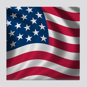 usflag Tile Coaster