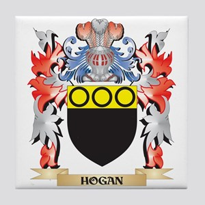 65f15acea7d Hogan Coat of Arms - Family Crest Tile Coaster