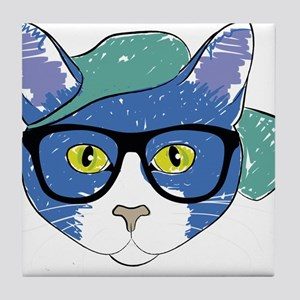 46403f22f8cbb Hipster Cat Coasters - CafePress