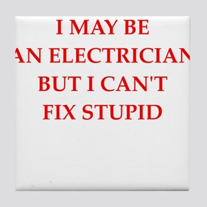 electrician Tile Coaster