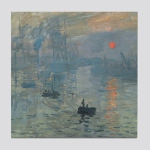 Monet Impression Sunrise Tile Coaster