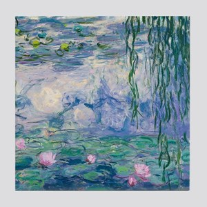 Water Lilies Claude Monet Fine Art Tile Coaster
