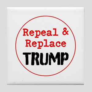 Repeal and replace trump Tile Coaster