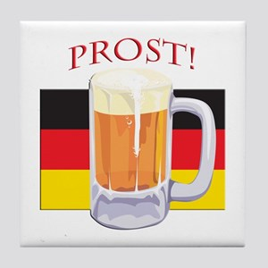 German Beer Prost Tile Coaster