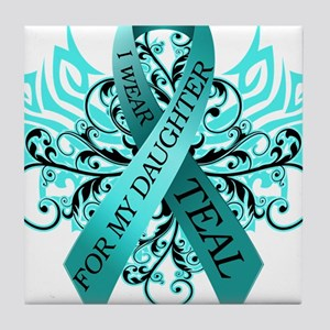 I Wear Teal for my Daughter Tile Coaster