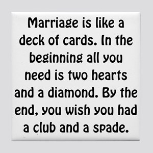 Marriage Cards Tile Coaster