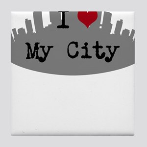 Customizable I Heart City Tile Coaster