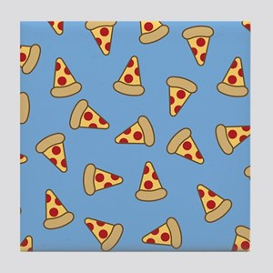 Cute Pizza Pattern Tile Coaster