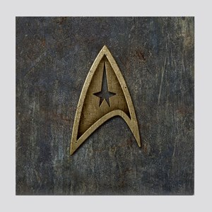 Star Trek Insignia Grunge Tile Coaster