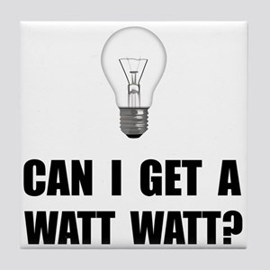 Watt Watt Light Bulb Tile Coaster