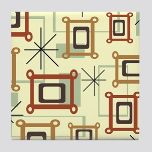 1950s Abstract Pop Art Tile Coaster