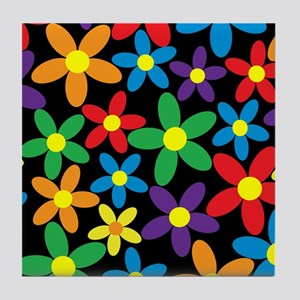 Flowers Colorful Tile Coaster