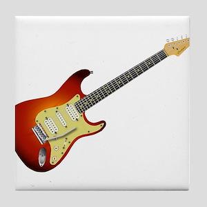 2aa7d0f15dd88 Sunburst Electric Guitar Tile Coaster