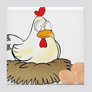 Chicken and Eggs Tile Coaster