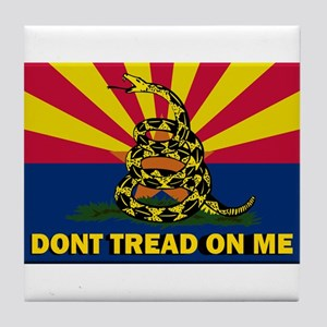 Arizona Dont Tread On Me Tile Coaster