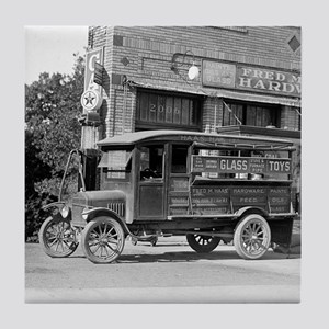 Hardware Store Delivery Truck, 1924 Tile Coaster