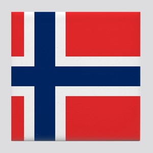 Flag of Norway Tile Coaster